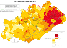 CARTE Part foyersfiscaux imposables 2013 Dept34